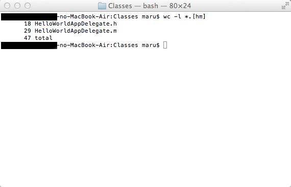 [試] iPhoneアプリ開発 ソースコードのステップ数カウント方法 | 最も簡単な方法はコレ!